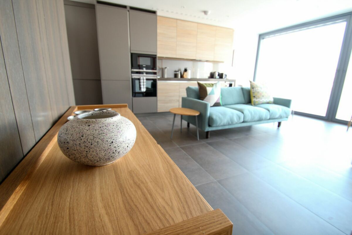 Living area, Chronicle Tower Serviced Apartment, London