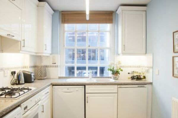 Kitchen, Gilliingham Street Serviced Apartments, Chelsea, London