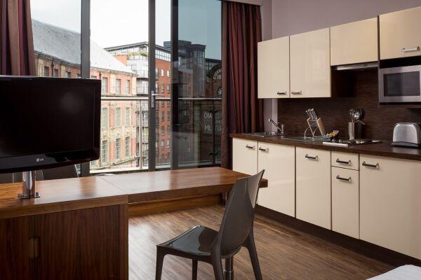 Leeds City Apartments in Leeds, Kitchen