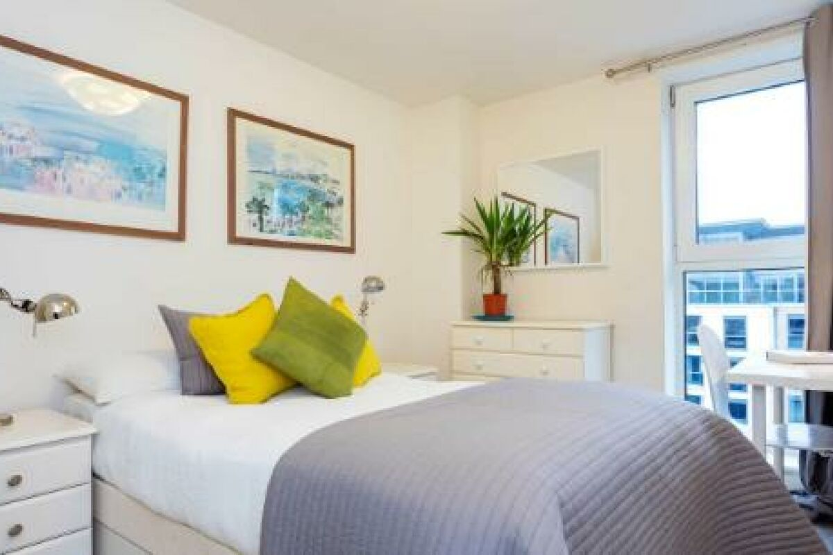 Bedroom, Nacovia Serviced Apartments, Fulham, London