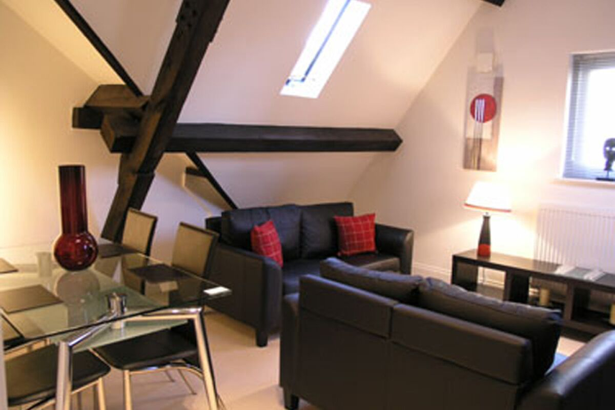 Living Area, Collectors House Serviced Apartments, Ipswich