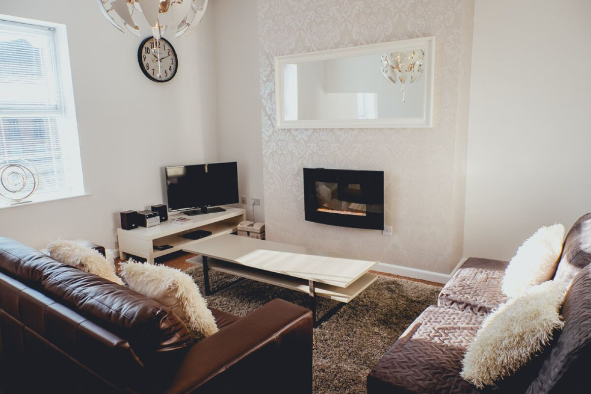 Living Room, Church Street Serviced Apartments, Halifax