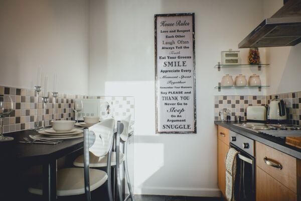 Kitchen, Church Street Serviced Apartments, Halifax
