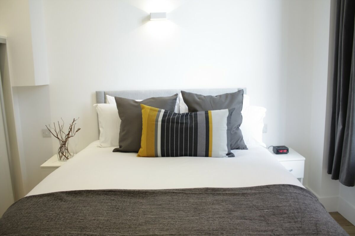 Bedroom, Shard View Serviced Apartments, Monument, The City of London