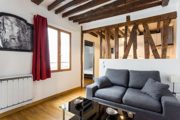 Sitting and Dining Area, Serviced Apartment, Paris