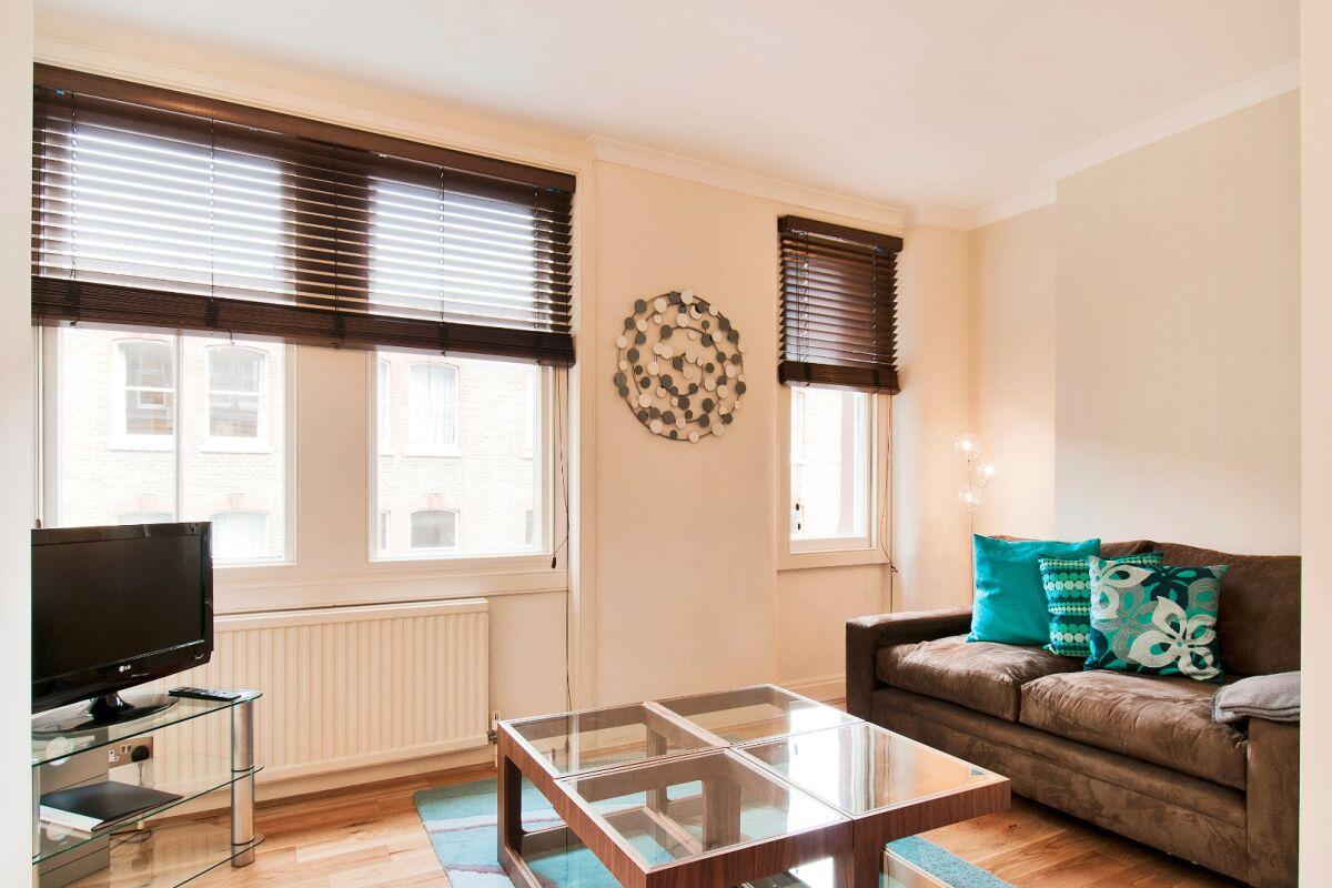 Living Area, Chiltern Street Serviced Apartments, Marylebone