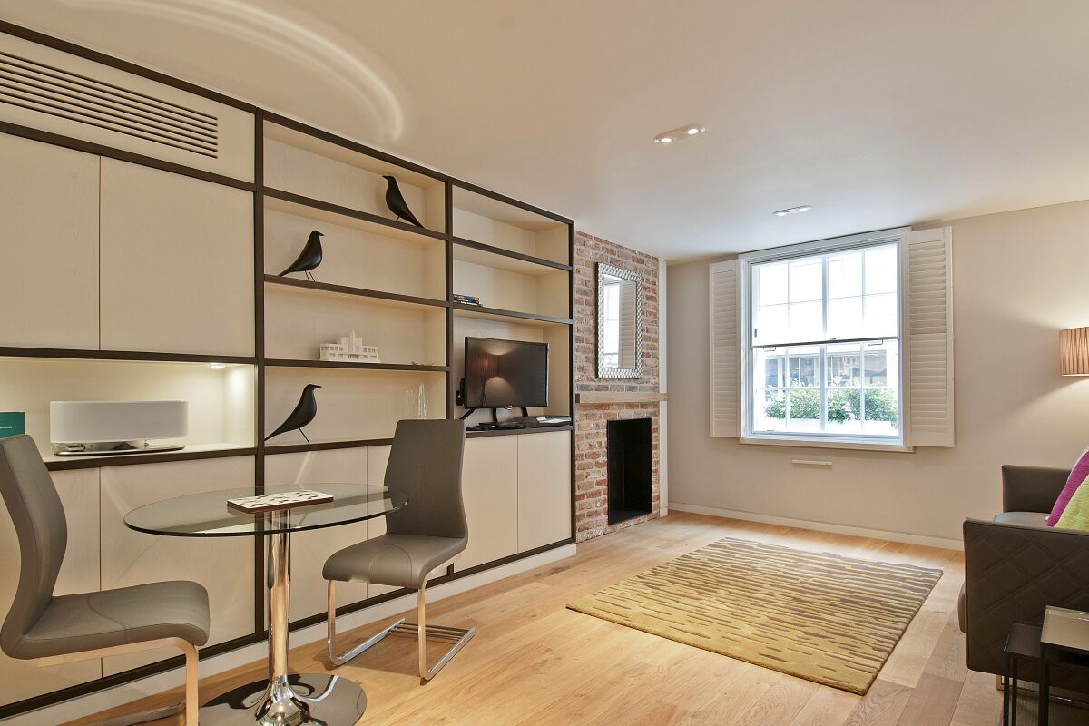 Living Area, Wigmore Serviced Apartments, London