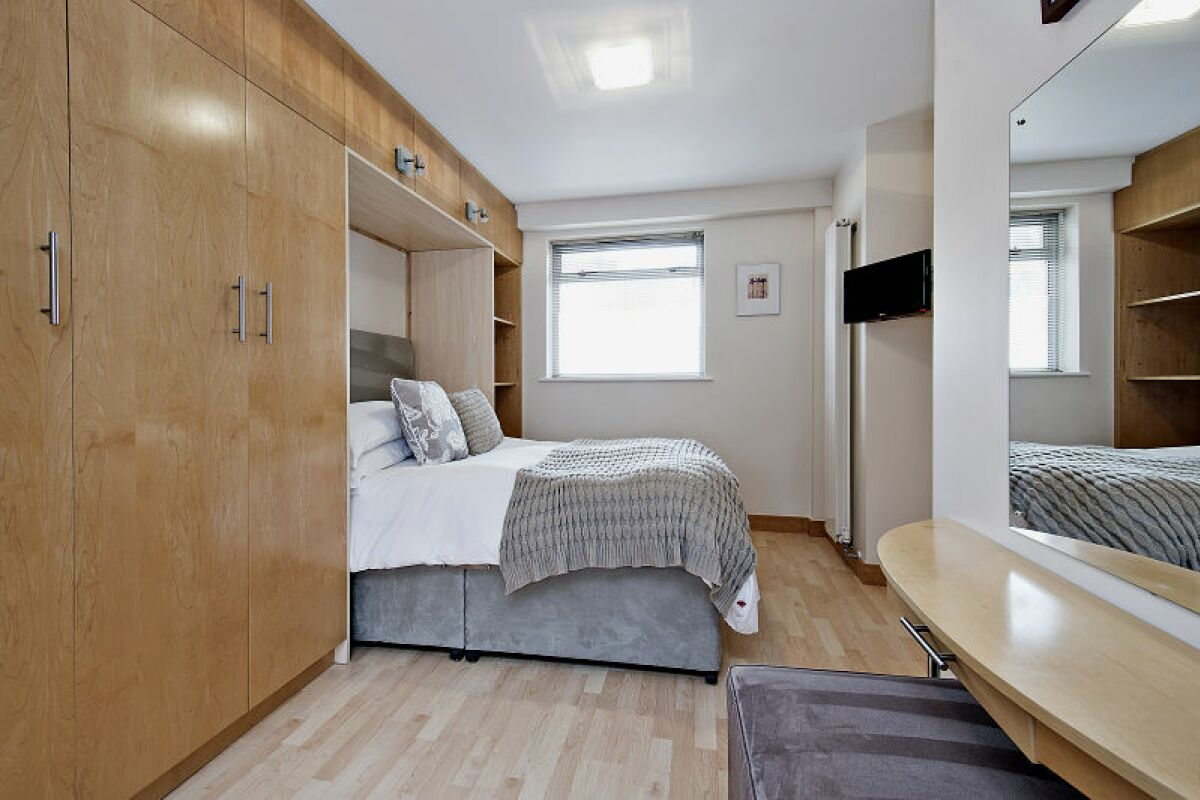 Bedroom, 6 - 8 St Christophers Place Serviced Apartments, London
