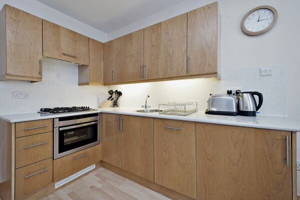 Kitchen, 6 - 8 St Christophers Place Serviced Apartments, London