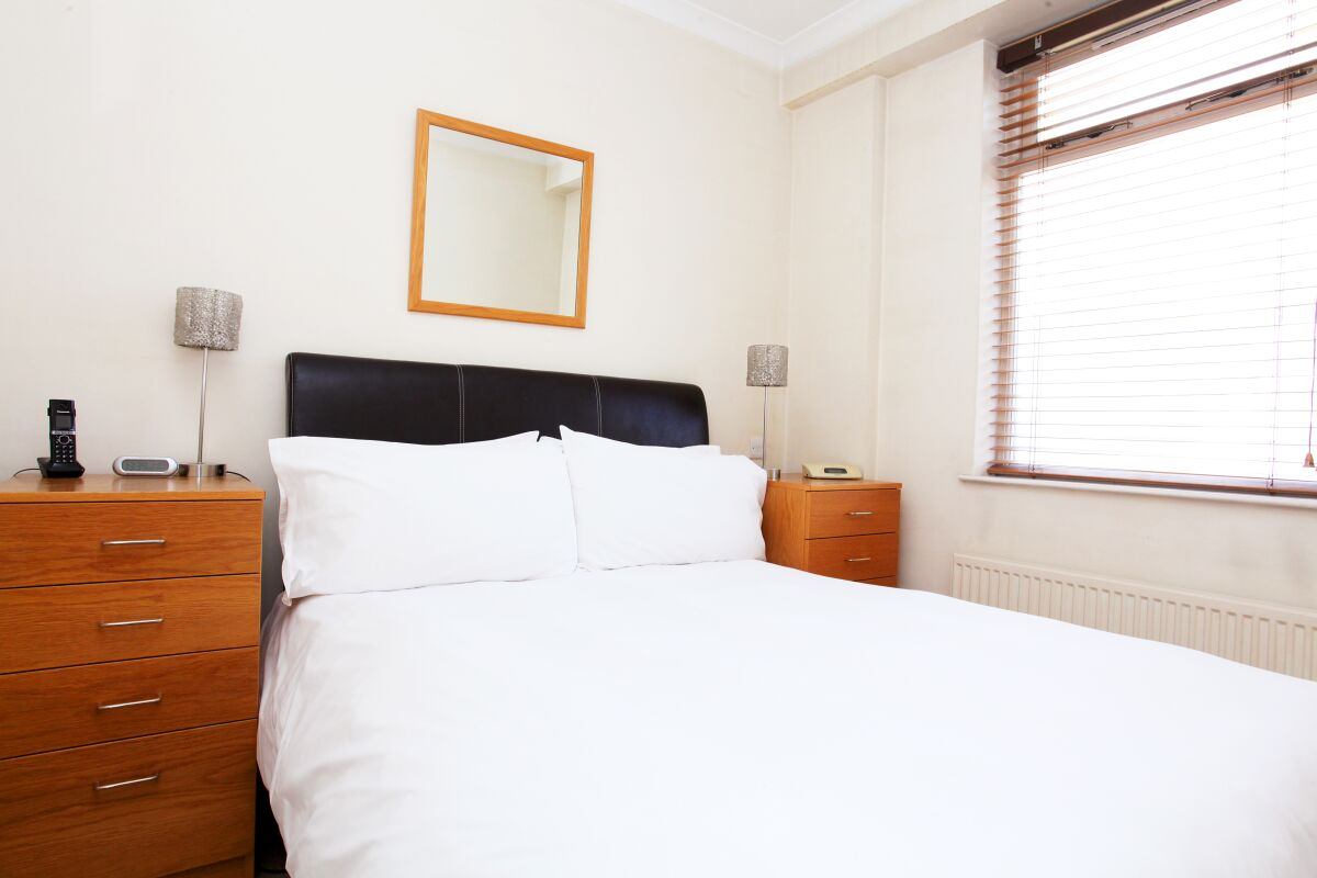 Bedroom, 9 St Christophers Place Serviced Apartments, London