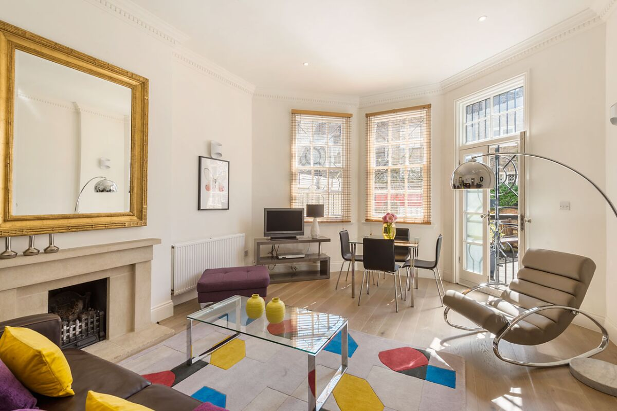 Living Room, Chelsea Sloane Square Serviced Apartments, Chelsea