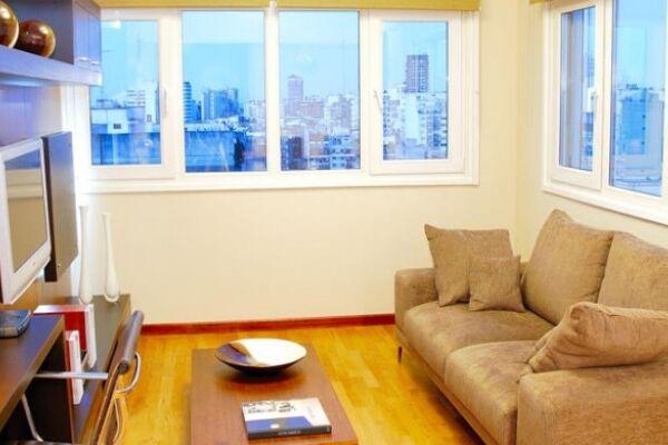 Living Area, Ecuador Serviced Apartment, Buenos Aires