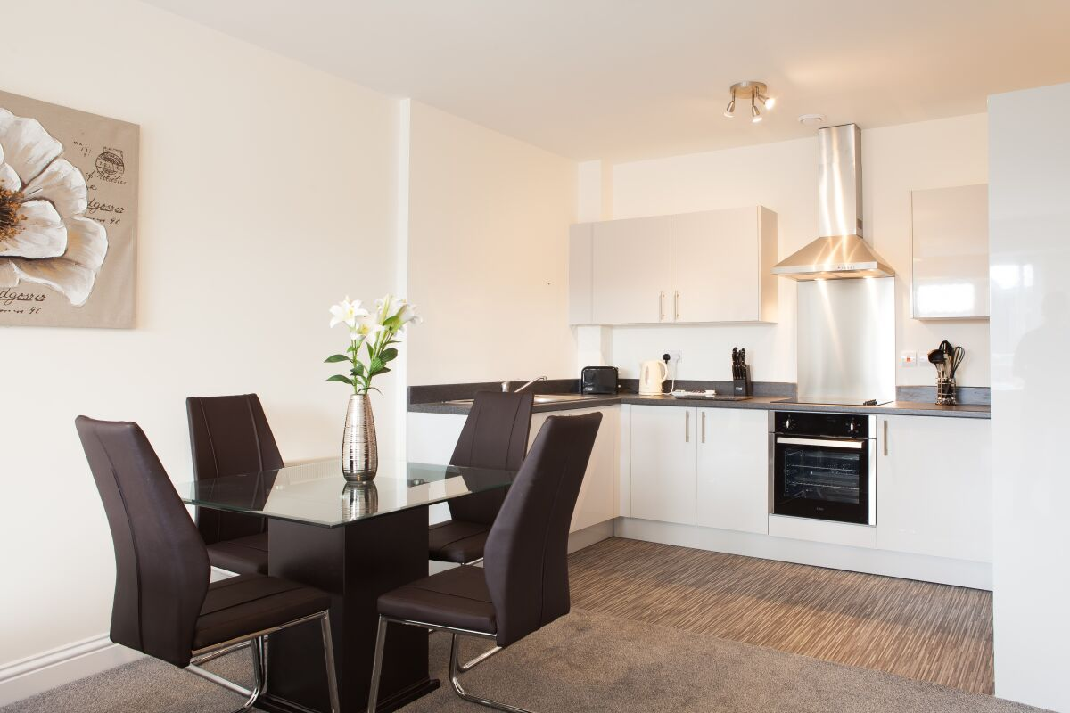Guild House Apartments, Swindon, Kitchen and Dining Area