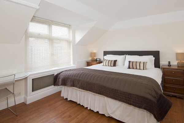 Bedroom,Maybury Court Serviced Apartment, Marylebone