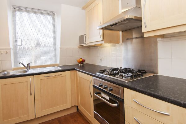 Kitchen,Maybury Court Serviced Apartment, Marylebone