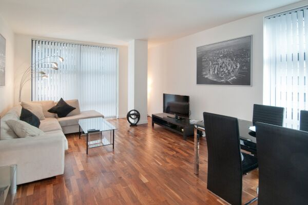 Living Room, Discovery Dock Serviced Apartments, Canary Wharf, London