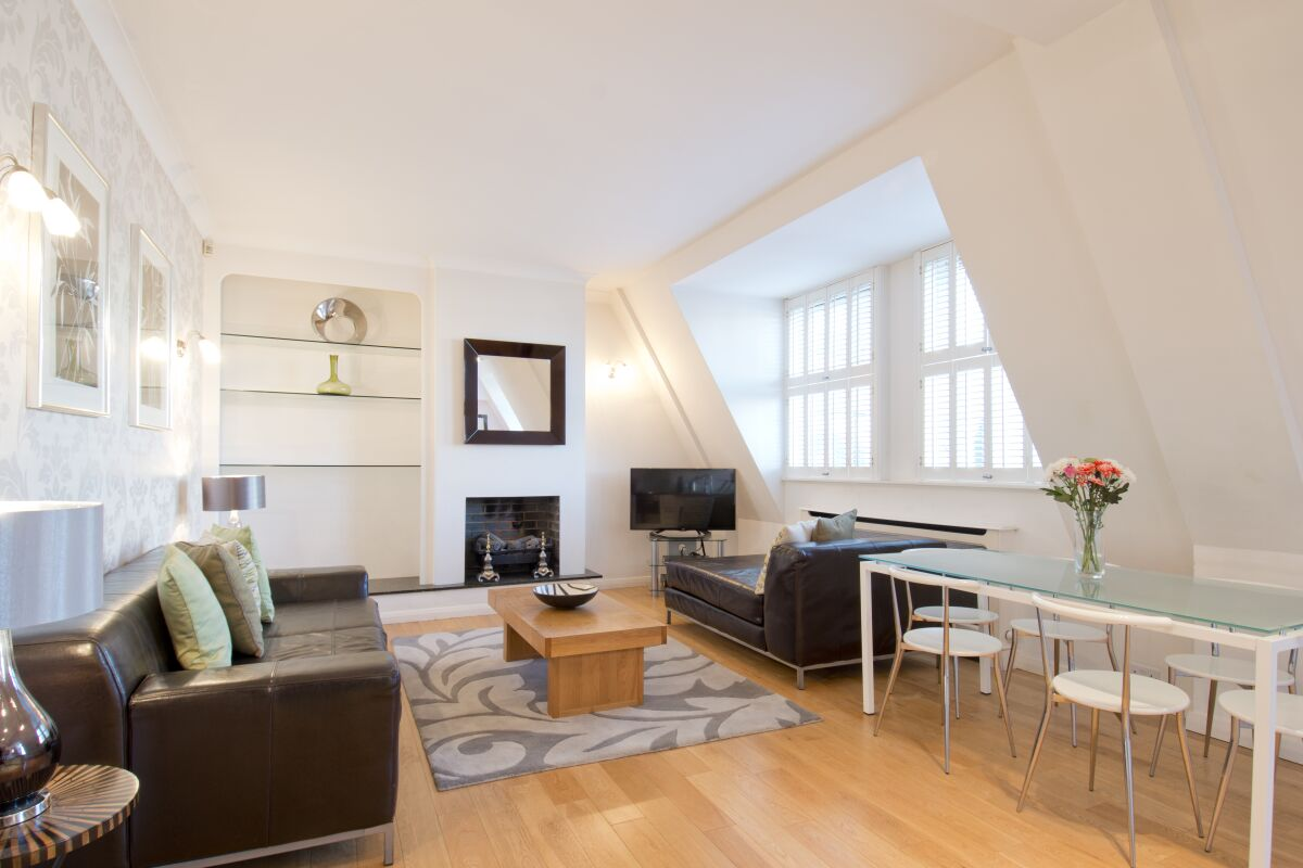 Living Room, Barrett Street Serviced Apartments, Marylebone, London