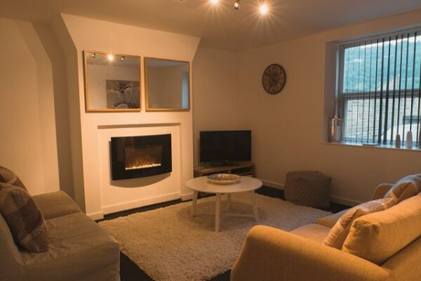 Living Room, School Street Serviced Apartments, Halifax