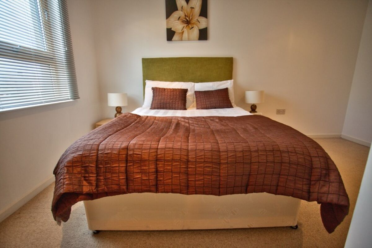 Bedroom, Gateway Serviced Apartments, Leeds
