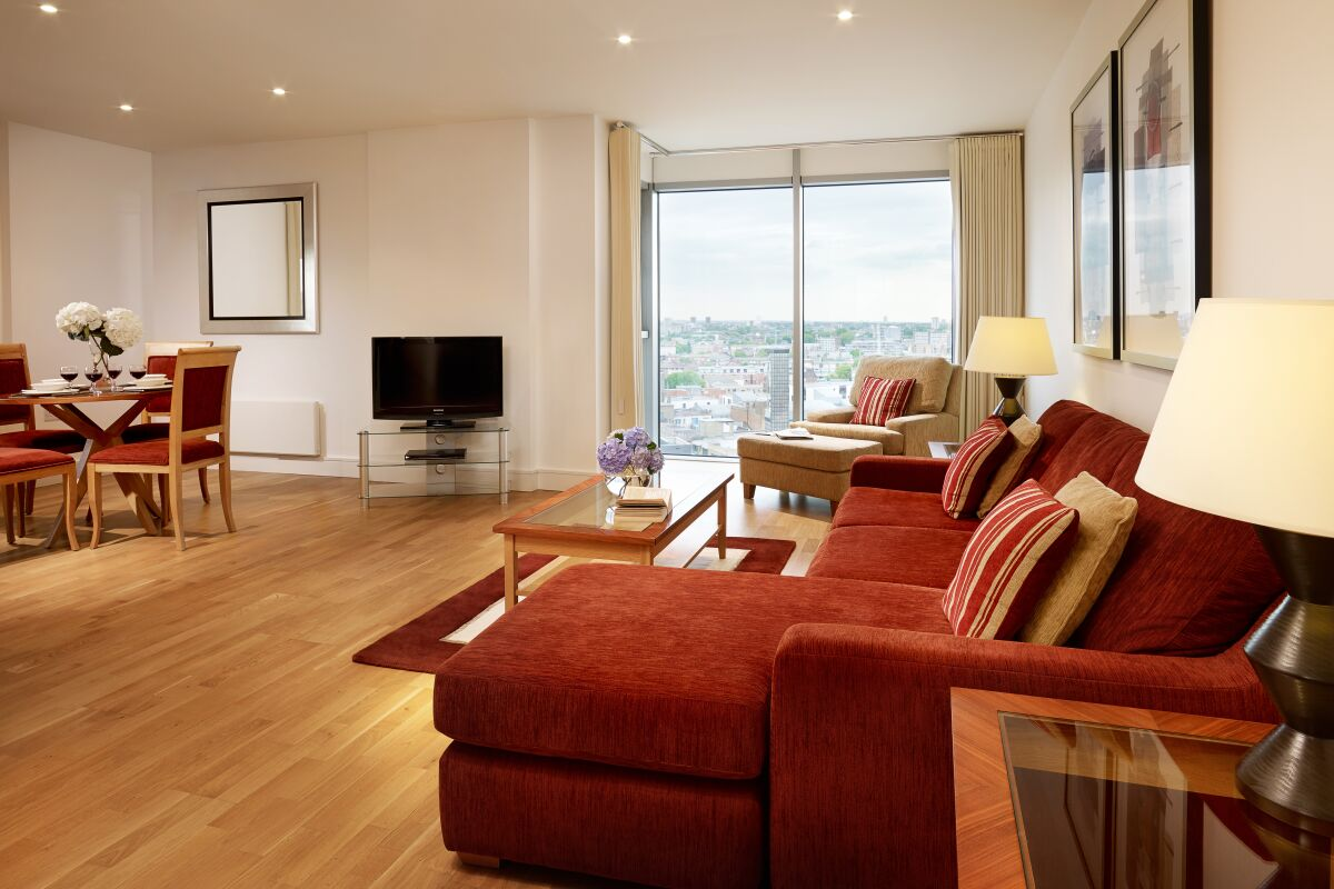 Living Area, Commercial Road Serviced Apartments, Aldgate