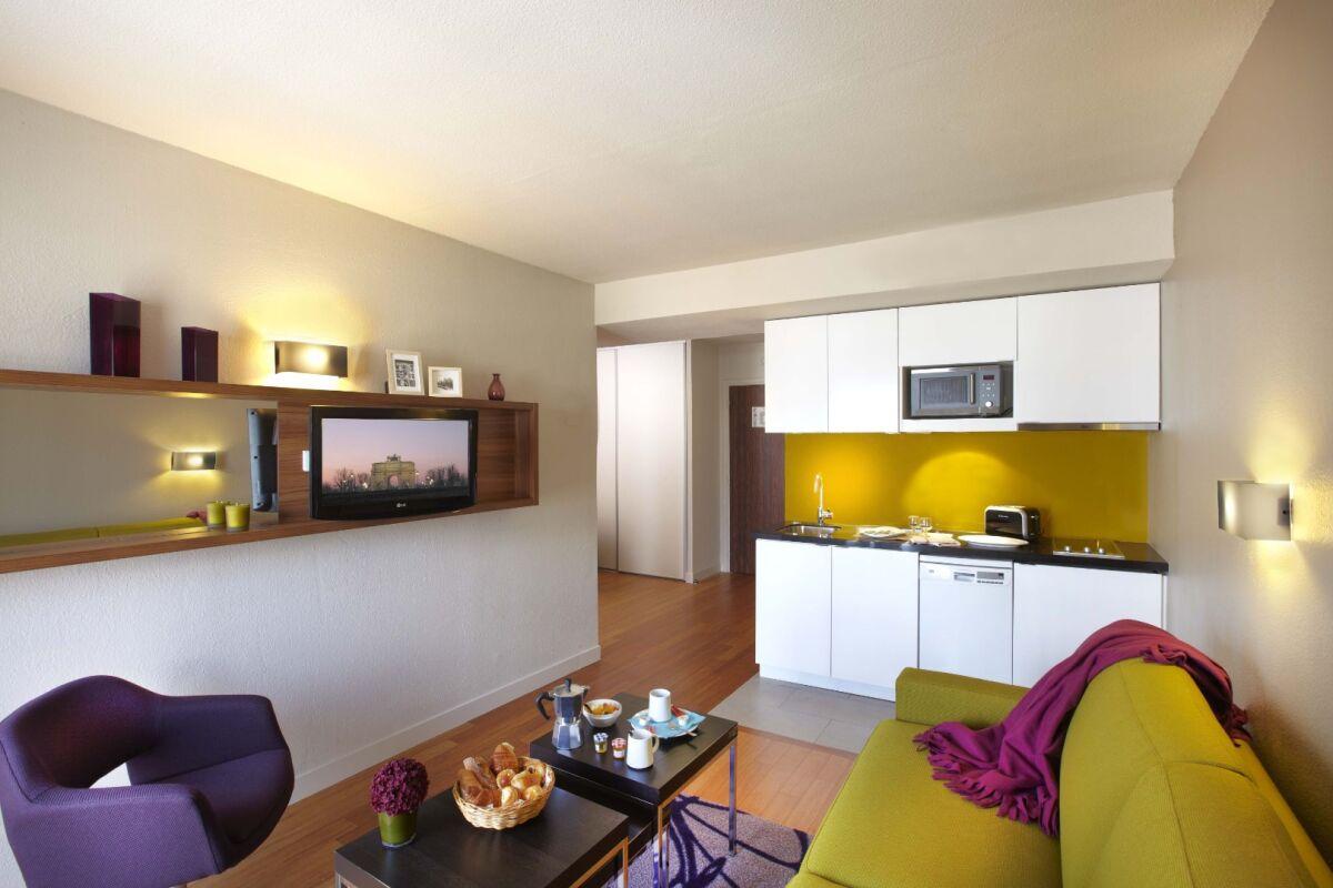 Living Area, Les Halles Serviced Apartments, Paris