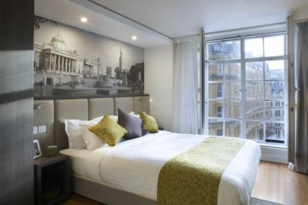 Bedroom, Trafalgar Square Serviced Apartments, Central London