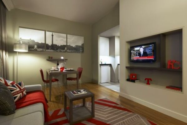 Living Room, Trafalgar Square Serviced Apartments, Central London