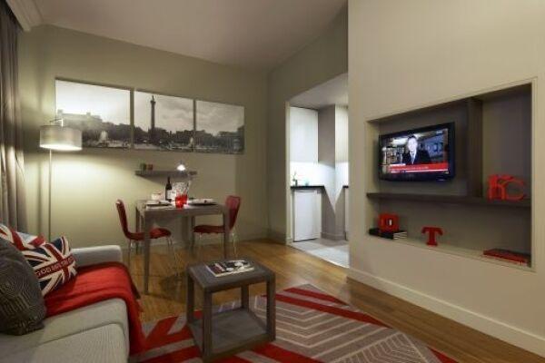 Living Room, Trafalgar Square Serviced Apartments, Central London