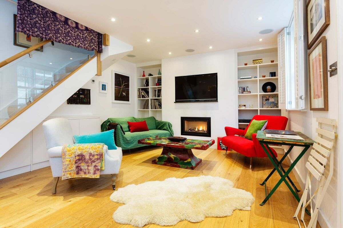 Living Room, Denbigh Close Serviced Apartments, Notting Hill, London
