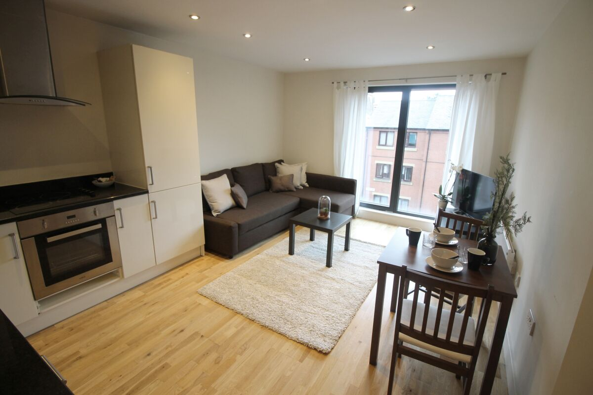 Living Area, The Chandlers Serviced Apartments, Leeds