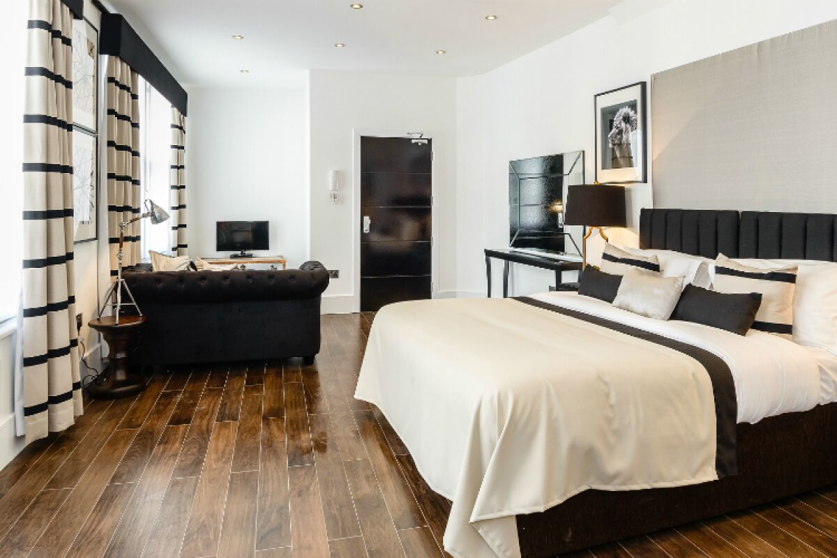 Bedroom, Ludgate Square Serviced Apartments, The City of London