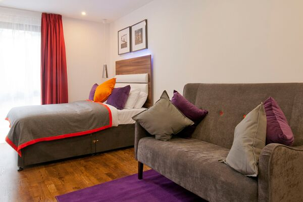 Bedroom, Camden Road Serviced Apartments, London