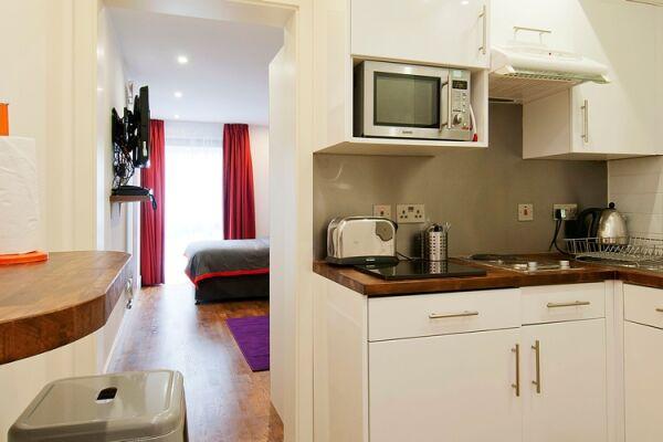 Kitchen, Camden Road Serviced Apartments, London