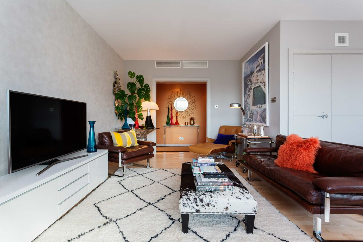 Living Area, The Panoramic Serviced Apartment, Westminster, London