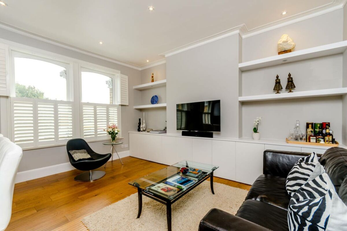 Living Area, Fulham Road Serviced Apartment, Fulham, London