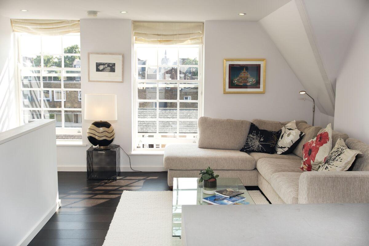 Living Area, Augustas Lane Serviced Apartment, Islington, London
