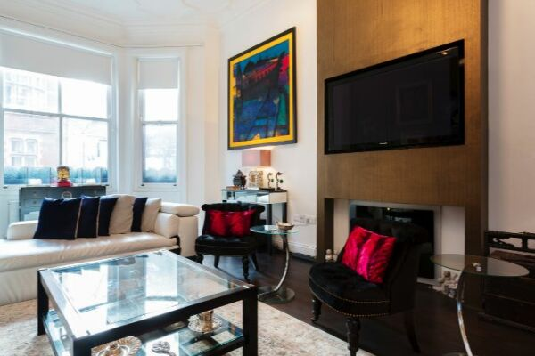 Living Area, Draycott Place Serviced Apartment, Chelsea, London
