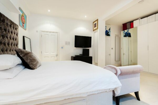 Bedroom, Draycott Place Serviced Apartment, Chelsea, London