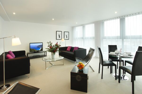 Living Room, York Road Serviced Apartments, Lambeth, London