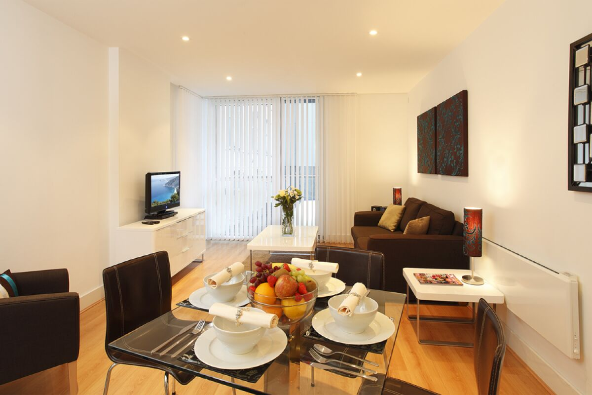Living Room, Tower Hill Serviced Apartments, The City of London
