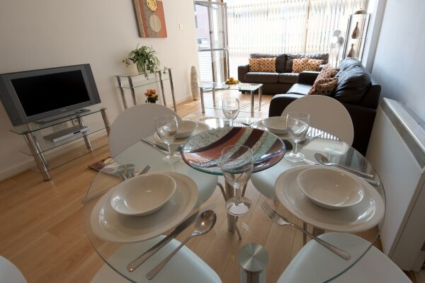 Dining Area, Deansgate Quay Serviced Apartments, Manchester