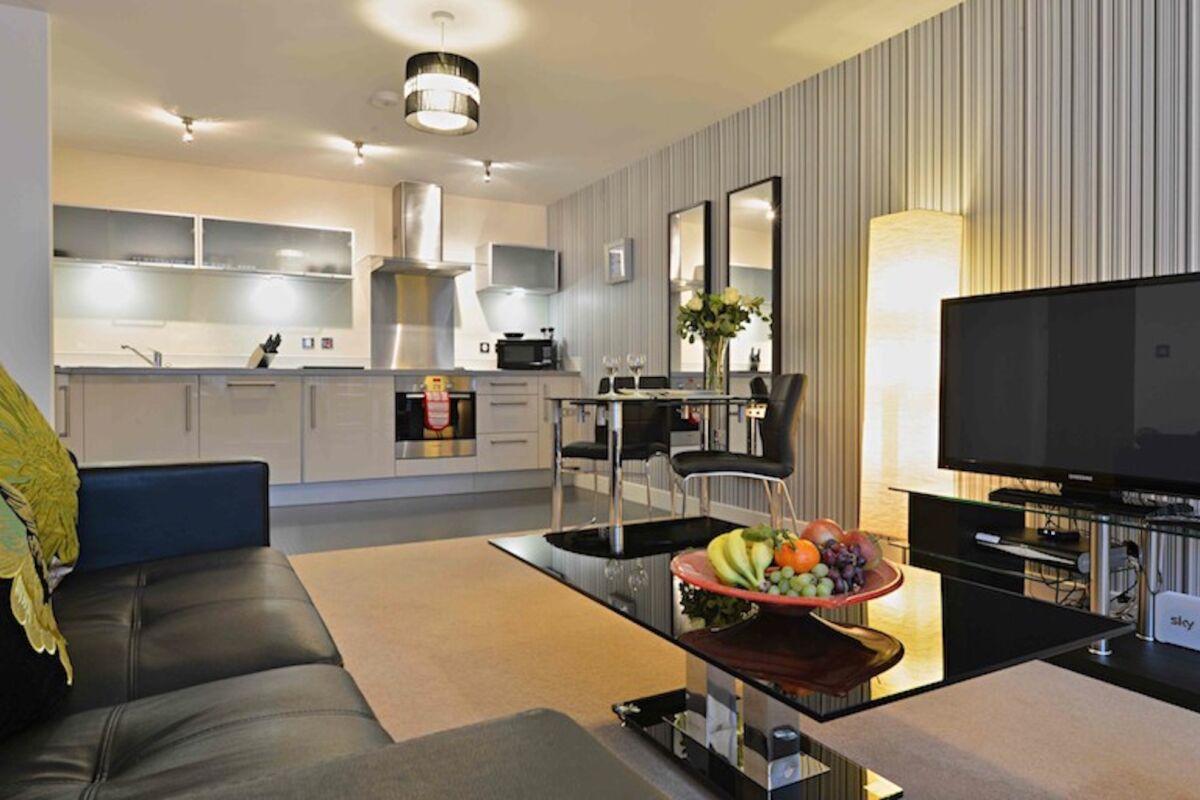 Living Area, Vizion Serviced Apartments, Milton Keynes