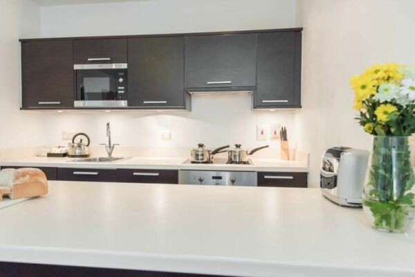 Kitchen, Manchester Premier Serviced Apartments, Manchester