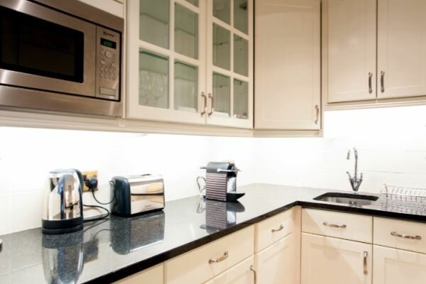 Kitchen, Redesdale Street Serviced Apartment, Chelsea, London