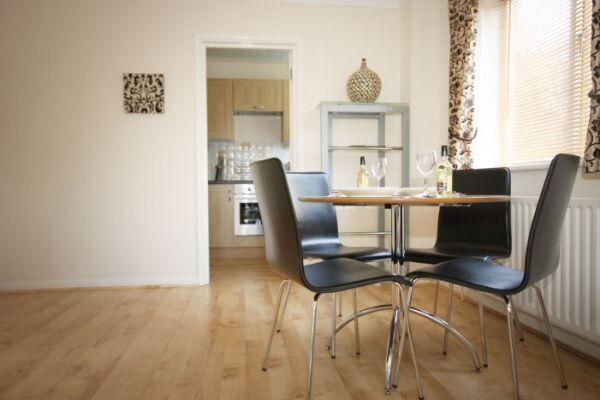 Living room, Acacia Court Serviced Apartment Building, Bracknell