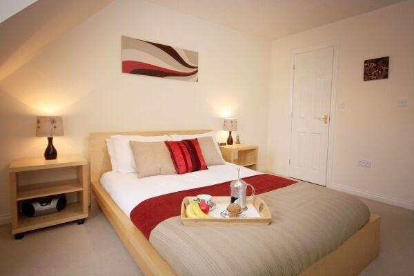 Bedroom, Bevan Gate Serviced Apartments, Bracknell