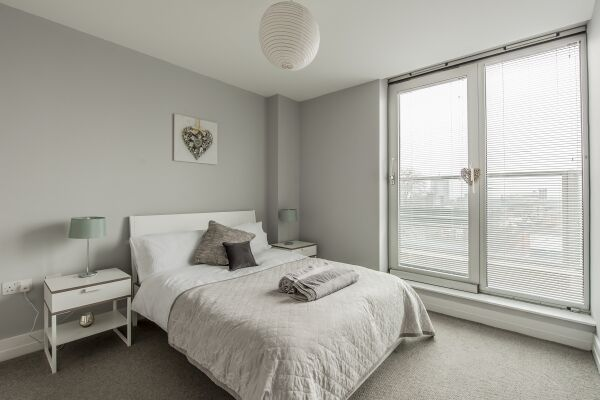 Bedroom, Arcus Serviced Apartment, Leicester