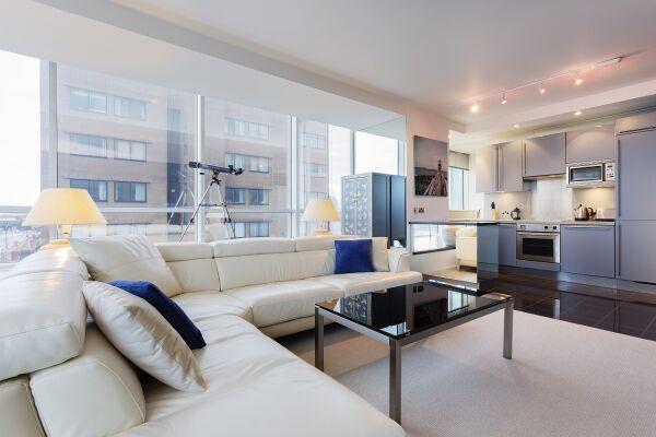 Living Area, Grosvenor Road Serviced Apartment, Westminster