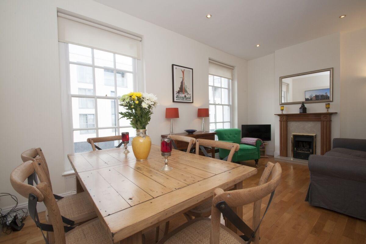 Living Room, Upper Tachbrook Street Serviced Apartments, Pimlico, London