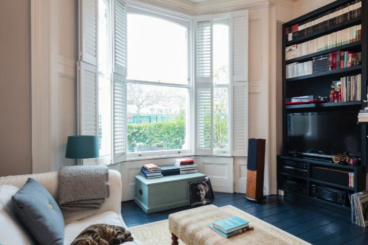 Living Area, Stapleton Hall Serviced Apartment, London